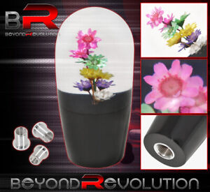 90mm Flower Multi Color Shift Knob 5 Speed 5psd M8 M10 M12 Adapter Mini Scion