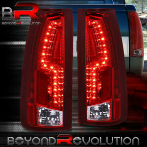 Red Lens Rear Led Tail Lights For 88 98 Chevy C K C10 Silverado 1500 2500 Truck
