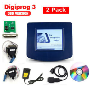 2 Packs Car Digiprog 3 Odometer V4 94 With Obd2 St01 St04 Cable Correct Kit Us