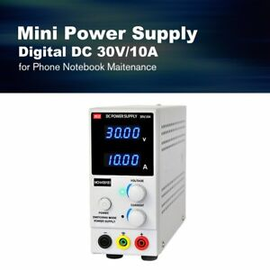 30v 10a Digital Mini Dc Power Supply Current Volt Display Adjustable Switching C