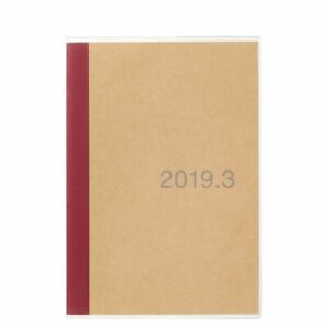 Muji Calendar 2019 March A5 Monthly Schedule Diary Daily Note Planner Fs