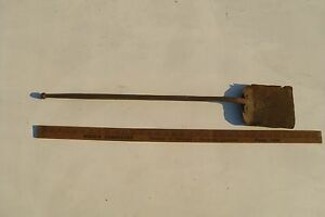 Antique Blacksmith Forge Shovel Coal Ash Wrought Iron Fireplace Stove Primitive