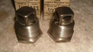 Two Nos Durabla 1 2 Stainless Steel Basic Basic check Valve Unit In line Bss