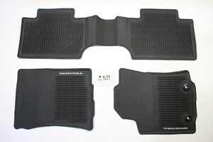 Oem All Weather Front Rear Floor Mats Toyota Tacoma Access Cab 16 18 Man Trans