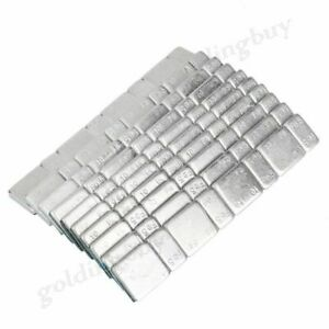 10x Strip Stick On Wheel Balance Weights Silver Fit Car Truck Motorcycle Van Ab