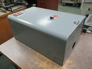 Cutler hammer Enclosed Size 3 Starter 6 16 2 208 220v Coil 90a 600v Used