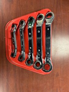 Mac Tools Metic Ratcheting Offset Wrench 12 Point Usa 5 Pc