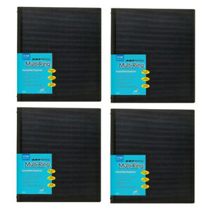 Itoya Art Profolio 8 5 X 11 Multi ring Binder black 4 pack