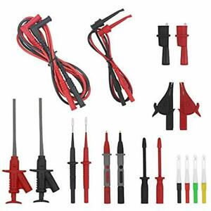 Multi Testers Electrical Multimeter Test Leads Kit Alligator Clips Banana Plug