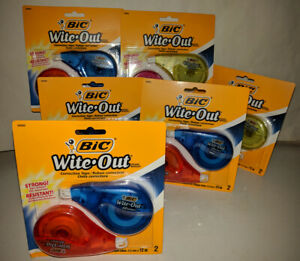 Bic Wite out Brand Ez Correct Correction Tape 2per Pak Lot Of 6 Packs