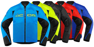 *FAST FREE SHIPPING* ICON CONTRA 2 Motorcycle Jacket Sport Textile (All Colors)