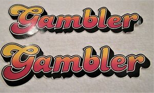 Gambler Chassis Co Vintage Sprint Car Racing Sticker Decal Set 1980 S