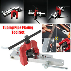 Tubing Pipe Flaring Tools Set Kit Dies 3 16 5 8 Flare Tubing Brake Line Pro