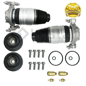 Pair 2 Rear Left Right Air Suspension Spring Fits Vw Touareg Porsche Cayenne