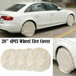 4pcs Set 28 Inch Car Suv Canvas Wheel Tire Covers For Rv Trailer Camper Truck