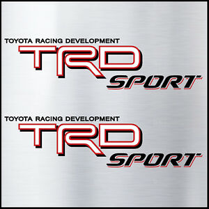 Trd Sport Bed Decal Sticker Toyota Off Road 4x4 Tundra Tacoma Cali Blk Red White