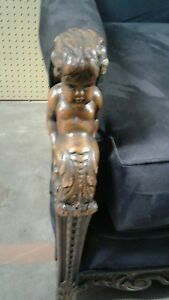 Karpen Cherub Carved 1920 S Sofa With New Suede