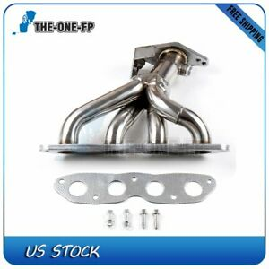 Performance Stainless Exhaust Header Manifold For 06 10 Toyota Yaris 1 5 I4 Sohc