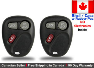 2x New Replacement Keyless Remote Key Fob For Gm 2002 2003 Saturn Vue Shell Case