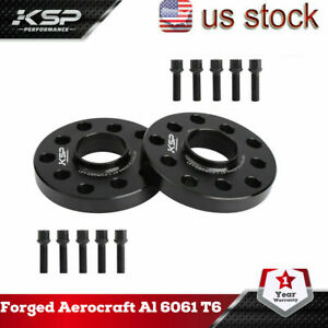 Ksp 2x20mm Wheel Spacers 5x100 5x112 10 Lug Bolts Fits Audi Volkswagen