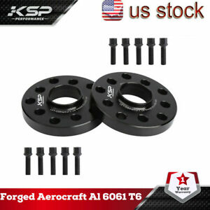 Ksp 2x20mm Wheel Spacers 5x100 5x112 10 Lug Bolts Fits Audi