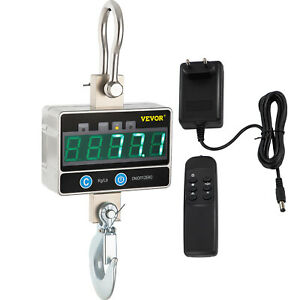 1t Digital Crane Scale Hanging Scale 1000kg 2000lbs Remote Control Industrial