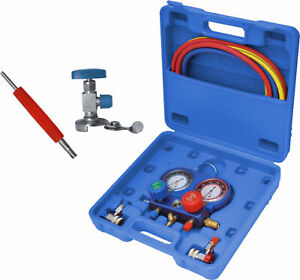 Common Cool Gas Meter Air Conditioning Manifold Gauge Tool Set Refrigeration