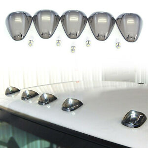 Cab Marker Roof Clearance Lights 5 Led Smoked Fit 99 16 Ford Superduty F250 F350