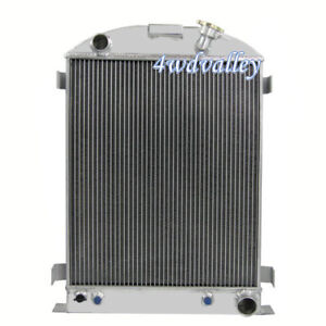 4row Aluminum Radiator Fits 1933 1932 1934 Ford grill shells Chevy V8 Conversion