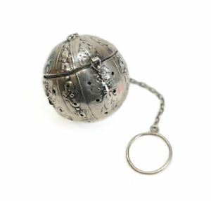 Webster Company Sterling Silver Figural Tea Ball North Wind Faces C1910
