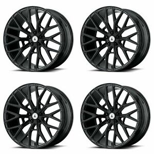 4x Asanti 22x10 5 Abl 21 Leo Wheels Gloss Black 5x115 Pcd 25mm Offset 6 73 bs