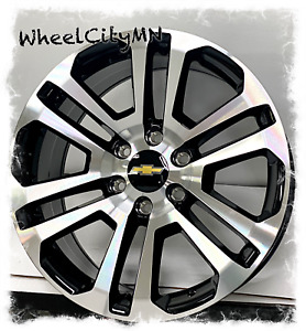 20 Inch Gloss Black 2017 Ck158 Chevy Silverado Tahoe Ltz Oe Replica Wheels 6x5 5