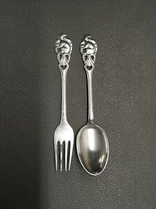 Th Marthinsen Norway Sterling Silver 925s Squirrel Youth Set Fork