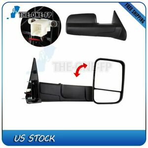 Heated Power Side Mirrors Fit 2002 08 Dodge Ram 1500 03 09 2500 3500 Tow Pair