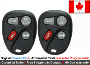 2x Oem Original Replacement Keyless Remote Key Fob For Gm 2003 2007 Saturn Ion