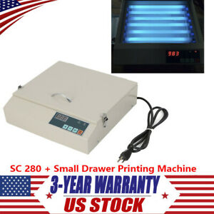 50w Precise Vacuum Uv Exposure Unit Screen Drawer Printing Machine W Sc 280