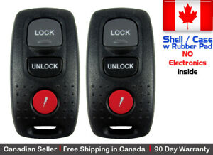 2x Replacement Keyless Entry Remote Key Fob For 2007 2009 Mazda 3 Shell Case