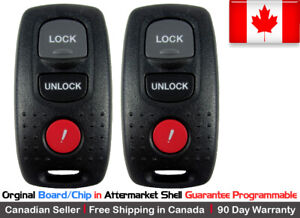 2x Oem Original Keyless Entry Remote Key Fob For 2003 2006 Mazda 3 6 Kpu41846