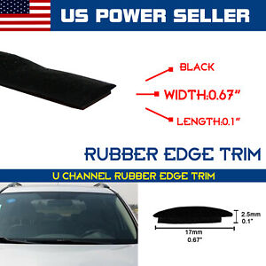 Rubber Seal Weather Strip Car Triangular Windshield Sunroof Window Guard By Yard