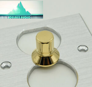 21x21mm Fm Acoustics Gold Brass Audio Knob Potentiometer Volume Control