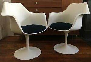 Eero Saarinen Tulip Arm Chairs For Knoll Mid Century Modern Eames Era