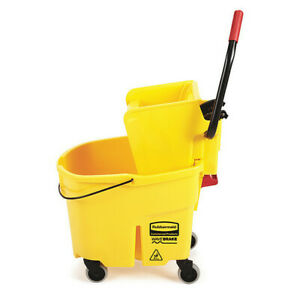 New Rubbermaid Fg758088 Commercial Wavebrake Side Press Combo Yellow