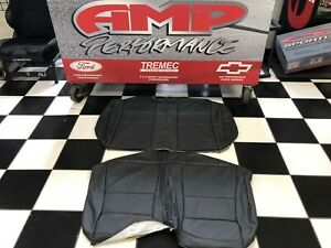 1999 2004 Mustang Convertible Roush Charcoal Leather Rear Seat Covers