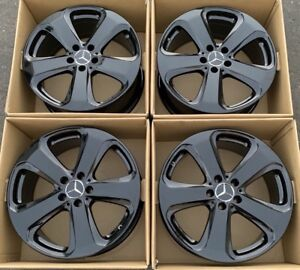 19 Mercedes benz Gl Class Factory Wheels Rims Oem Gloss Black 2534011000