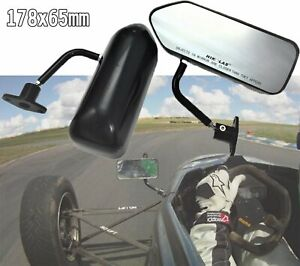 F1 Style Car Black Abs Racing Side Mirror Civic S2000 Accord Prelude Nsx Rsx Dc2