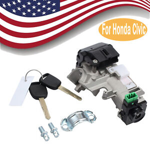 Ignition Switch Cylinder Lock Auto Trans With 2 Keys For Honda Accord 2003 2005