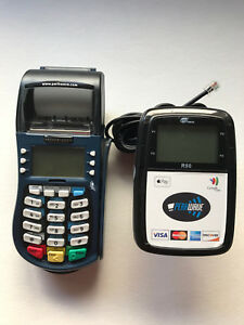Hypercom Equinox T4220 Credit Card Machine W Pax R50 Contactless Reader Lcd