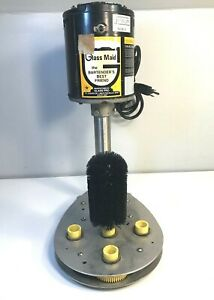 Glass Maid 6 Brush Bartenders Electric Glass Cup Washer Cleaner 1 3 Hp working