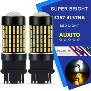 2x Auxito 4157na 3157 3156 White Amber Switchback Led Signal Parking Drl Bulb Eo