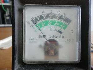 Vintage Dwell Tachometer Sears Model 244 2188 With Instructions